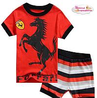 """Летний костюм """"Ferrari"""". 120 см."""