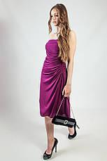 Платье женское вечернее коктельное выпускное сиреневое фиолетовое без бретелей рS L Lussilo, фото 3
