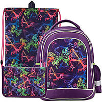 Рюкзак в комплекте 3 в 1 Neon butterfly KITE