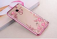 Чехол Бампер Luxury для Xiaomi Redmi Note 4 ультратонкий Rose Gold