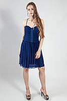 Платье женское синее на бретелях летнее вечернее коктельное выпускное рS Lussilo