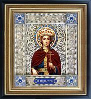 Святая Екатерина икона  скань