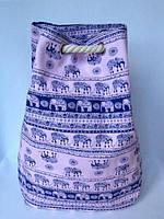 Пляжная текстильная летняя сумка рюкзак для пляжа и прогулок Индия цвет розовый