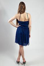 Платье женское синее на бретелях летнее вечернее коктельное выпускное рS Lussilo, фото 3