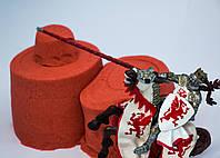 Песок кинетический, Живой песок Красный Supergum для творчества 500 гр + Формочки Украина