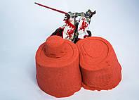Песок Космический, Кинетический песок для творчества Красный 3 кг + Формочки Украина Supergum