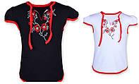 Детская футболка вышиванка на девочку в расцветках, 98-140