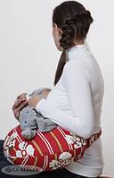 Подушка для кормления малыша, красная