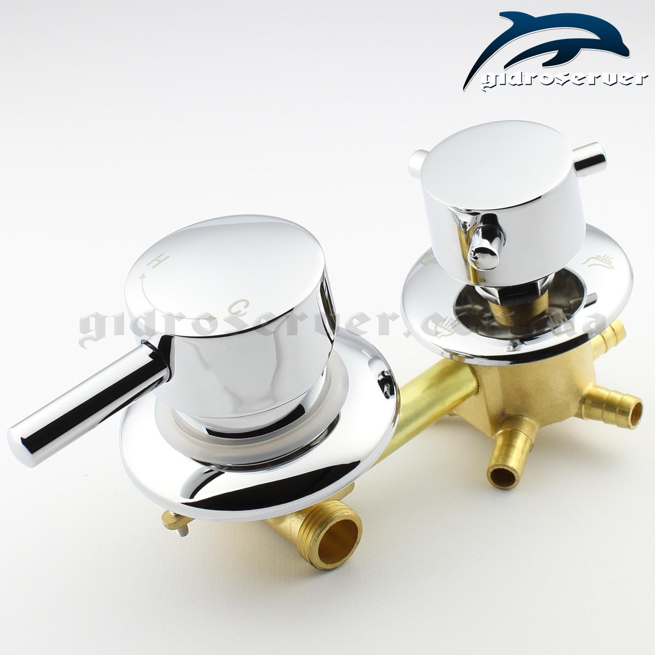 Смеситель для душевых кабин, гидромассажных боксов S5-100 на 5 положений.