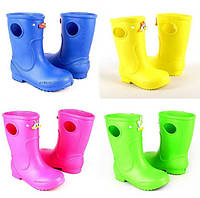 Яркие  резиновые сапожки для девочки (р20-21)