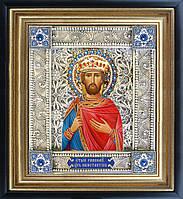 Святой Константин икона  скань