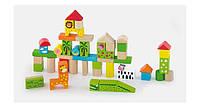 """Набор строительных блоков """"Зоопарк"""" 50 шт. (50286), Viga Toys, фото 1"""