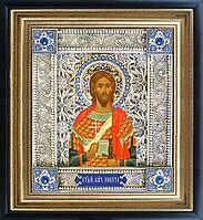 Святой Никита икона  скань