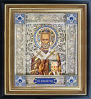 Святой Николай икона  скань