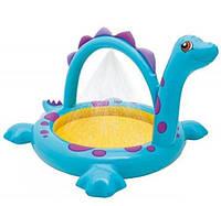 Intex Надувной бассейн Динозаврик с фонтаном 229*165*117см