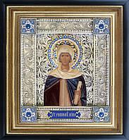 Святая Нина икона  скань
