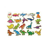 """Набор магнитных фигурок """"Динозавры"""" 20 шт. (50289VG), Viga Toys"""