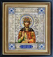 Святой князь Олег икона скань