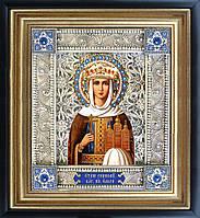 Святая Ольга икона  скань