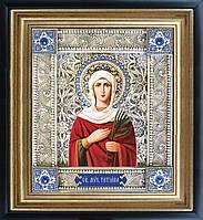 Святая Татьяна икона  скань