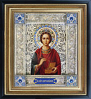 Святой Пантелеймон икона  скань