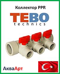 Tebo коллектор ппр красный 32х20х3 вых.