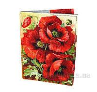 Обложка для паспорта Devays Maker Петриковская роспись Маки 01-01-377