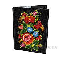 Обложка для паспорта Devays Maker Петриковская роспись красный узор 01-01-383