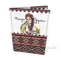 Кожаная обложка на паспорт Devays Maker Паспорт Українки 01-01-165