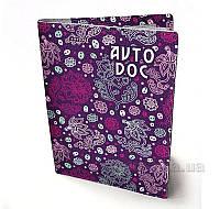 Обложка для водительских документов Devays Maker Сиреневые цветы 02-01-304