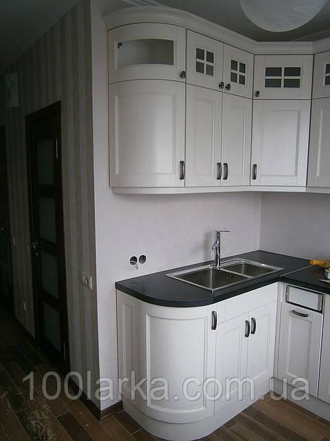 Кухня белая деревянная ясень  | Купить недорого деревянную кухню | Под заказ от производителя | Кухни из д