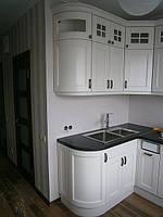 Кухня белая деревянная массив ясень