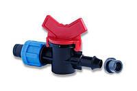 Кран стартовий для пластикової труби з ущільнювальною гумкою