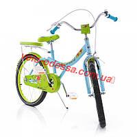 Двухколесный велосипед 20 дюймов зеленый STRAWBERRY
