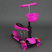 Самокат беговел Scooter 3в1, светящиеся колеса