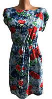 Платье женское резинка розы варенка (лето)