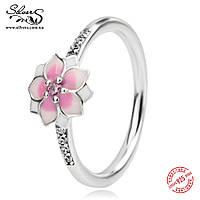 """Серебряное кольцо Пандора (Pandora) """"Цветок магнолии"""""""
