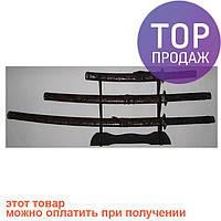 Набор самурайских мечей кожа змеи, оригинальные сувениры / Интерьерные аксессуары