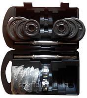 Набор гантели наборные в чемодане черные York Fitness (Sprinter) 20кг.