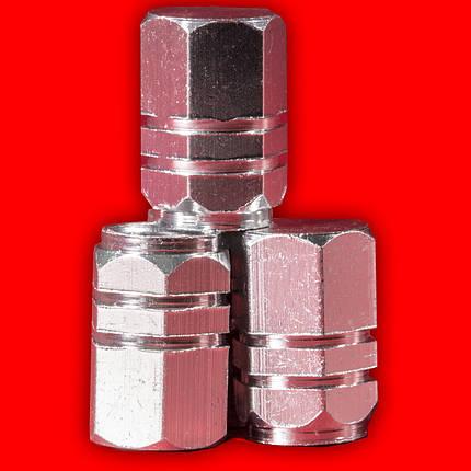 Колпачки на нипель Lesko 13-2C/191 Серебро для камеры насоса нипеля колеса volkswagen toyota skoda, фото 2