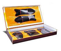 Набор скребков из рога буйвола для массажа Гуаша (деревянная коробка)