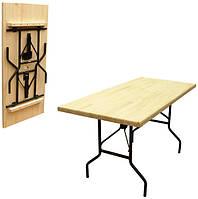 Стол складной массив сосны (2600х600х760) мм, толщина столешницы 18 мм.