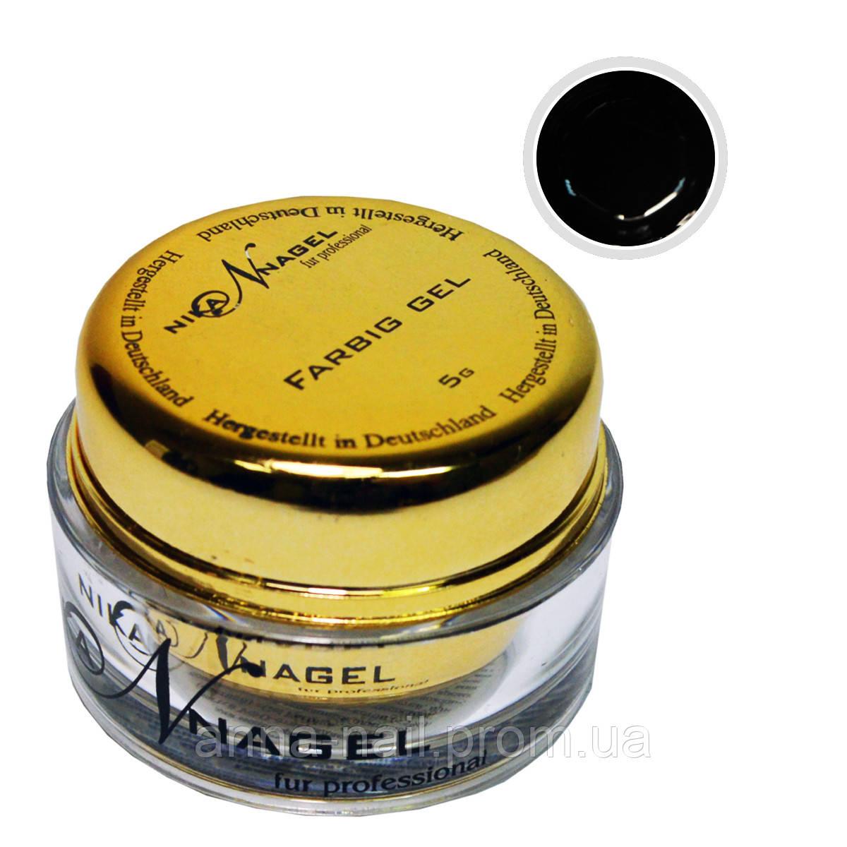 Гель для китайской росписи NIKA NAGEL Чёрный барон K5 черный, 5 г