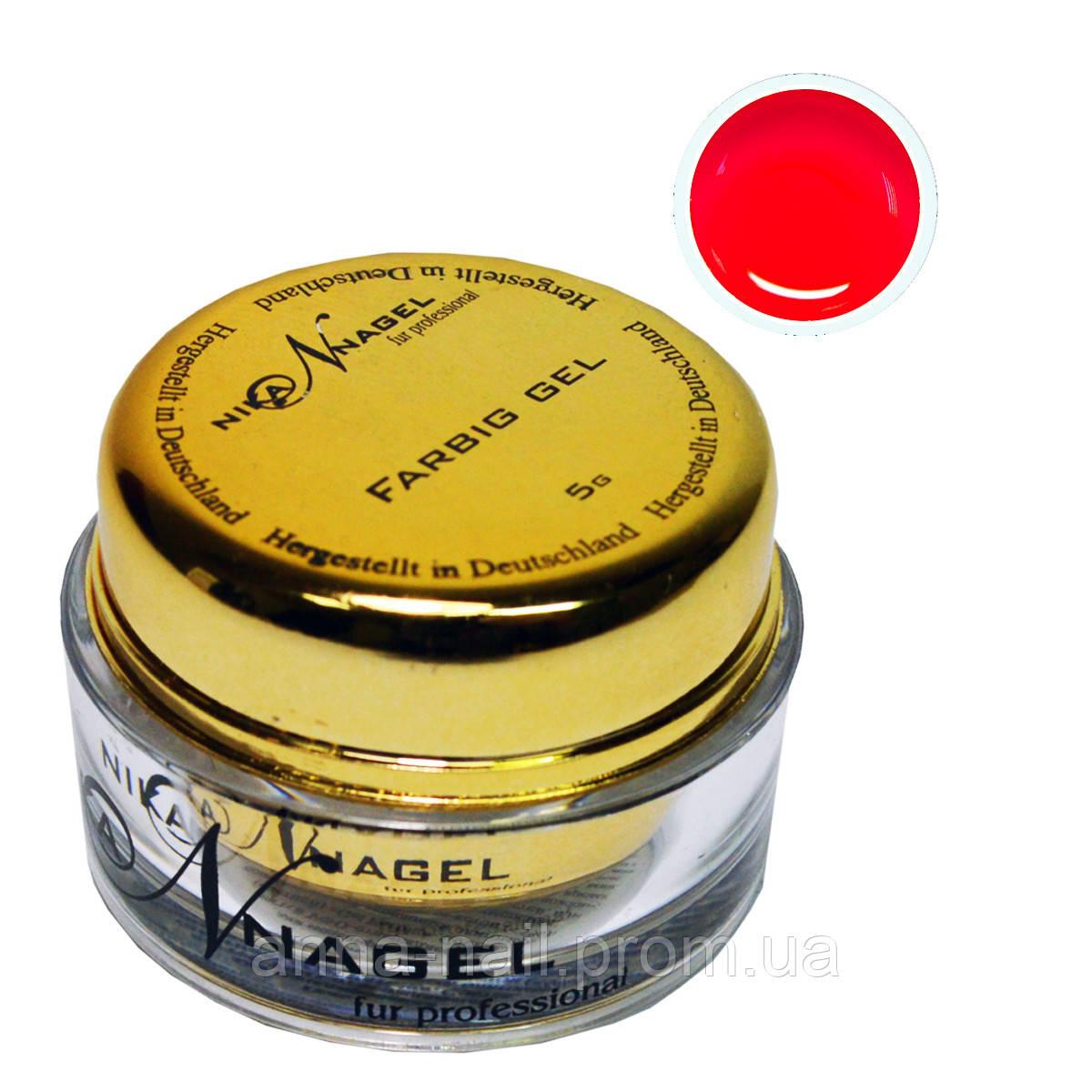 Гель для китайской росписи NIKA NAGEL Молодое вино K6 красный, 5 г