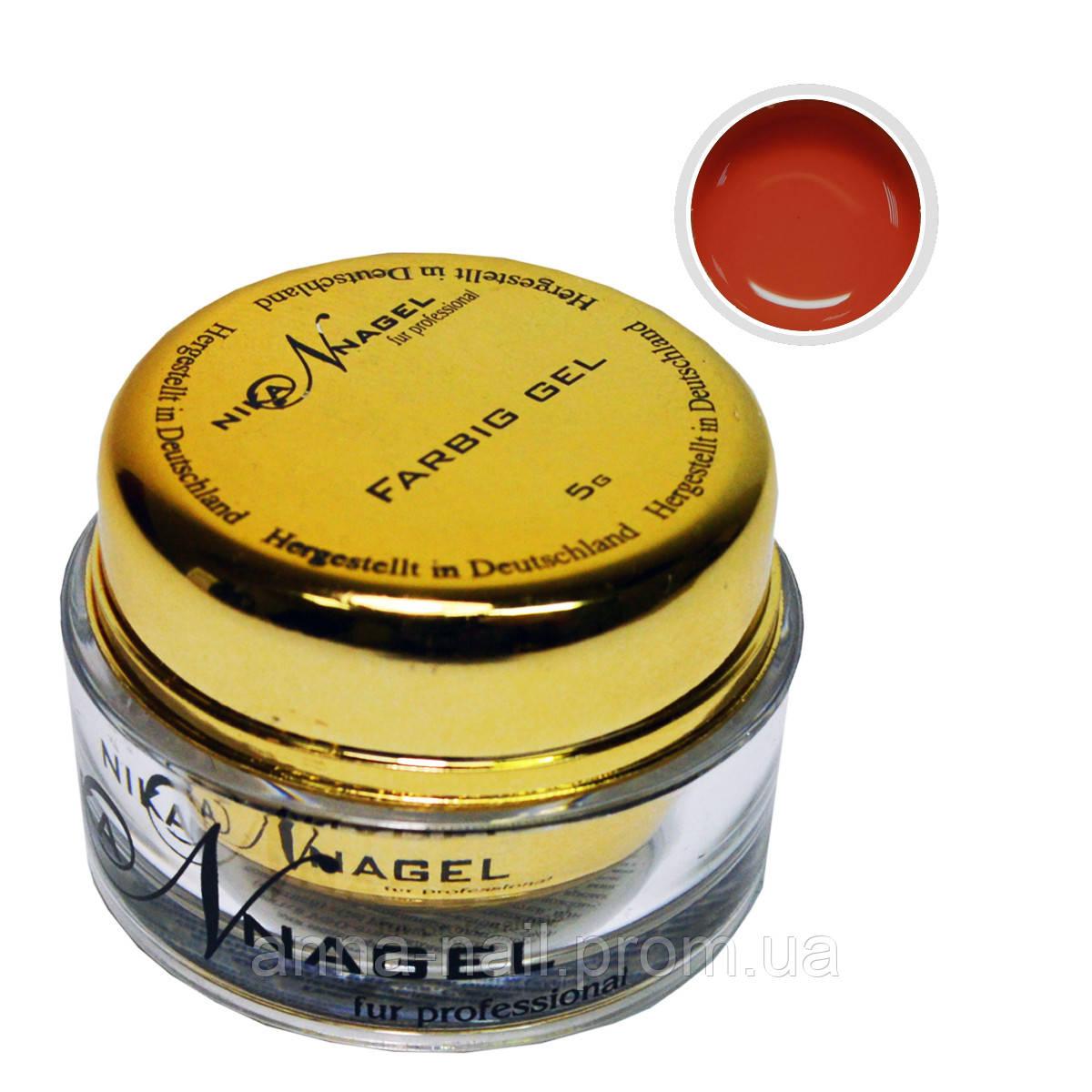 Гель для китайской росписи NIKA NAGEL Жжёный кирпич K26 коричневый, 5 г