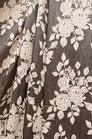 Турецкая ткань с фактурным цветочным узором Гобелен Роза