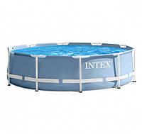 Круглый каркасный бассейн Metal Frame Pool Intex 28710, Интекс 28210