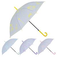 Зонт-трость полуавтомат ПВХ Романтика