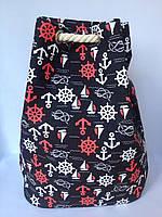 Пляжная текстильная летняя сумка, рюкзак для пляжа и прогулок  морской принт