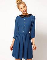 Платье с бархатным воротником ASOS